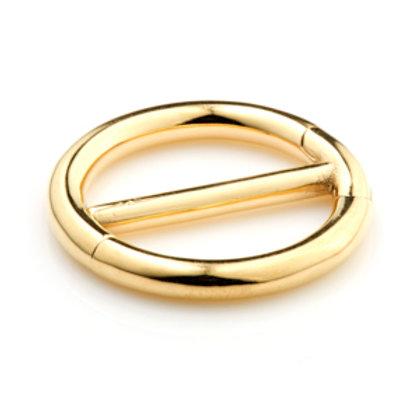 24K Gold Double Hinge Steel Nipple Clicker