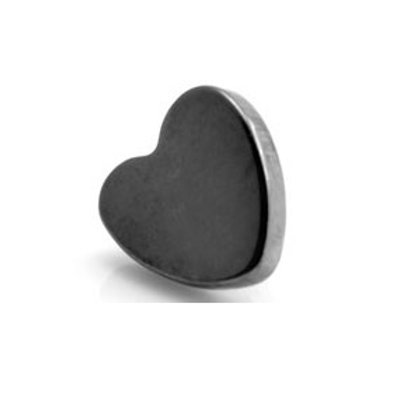 Internal Black PVD Titanium 4mm Heart Disk