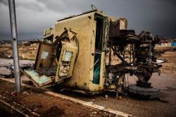 Kobane documentary: hummer carcass
