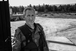 YPG guard in Kobane