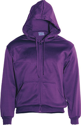 View Purple Full Zip Hoodie with logo