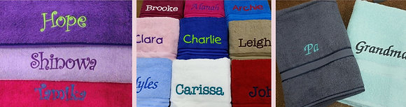 Towels - Embroidered with name