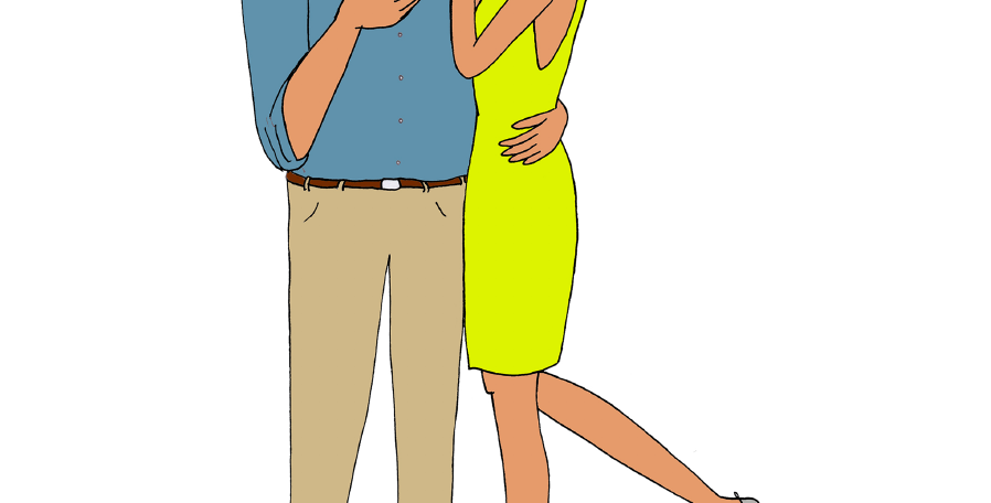 Illustration personnalisée 2 personnes