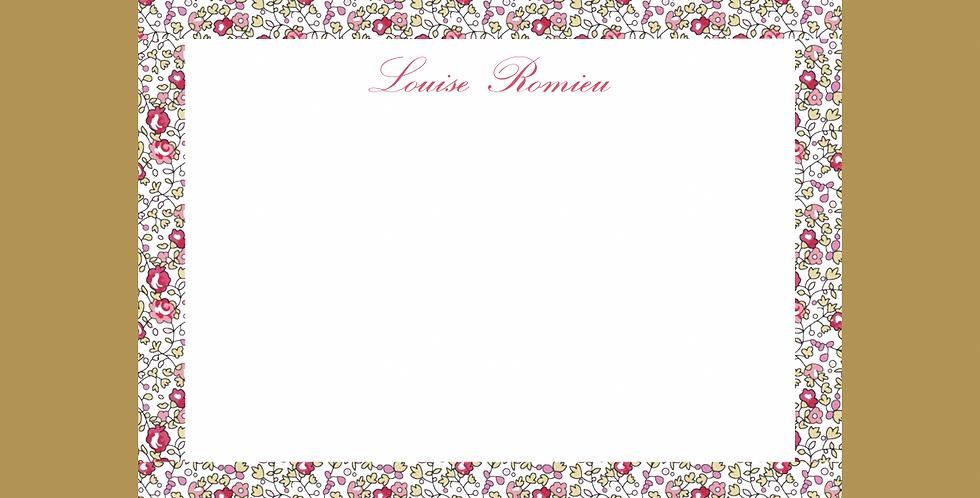 "Lot de 10 cartes de correspondance ""Louise"""