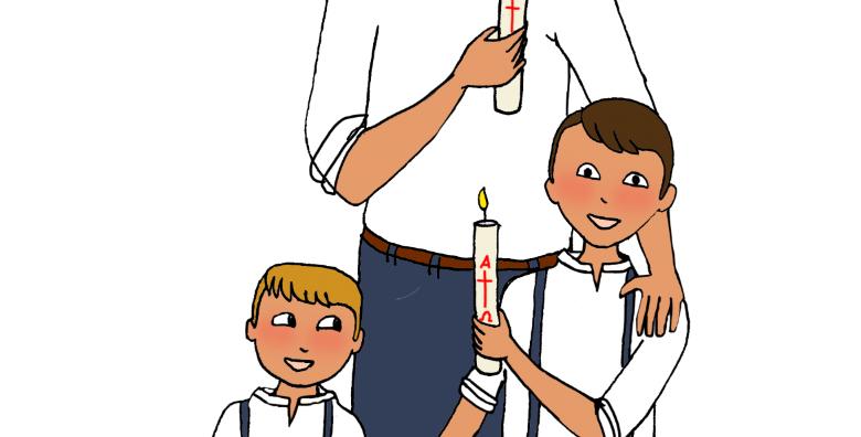 Illustration personnalisée 3 personnes