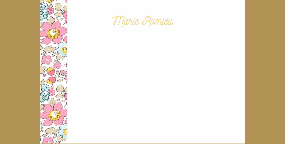 """Carte de Correspondance """"Marie"""""""