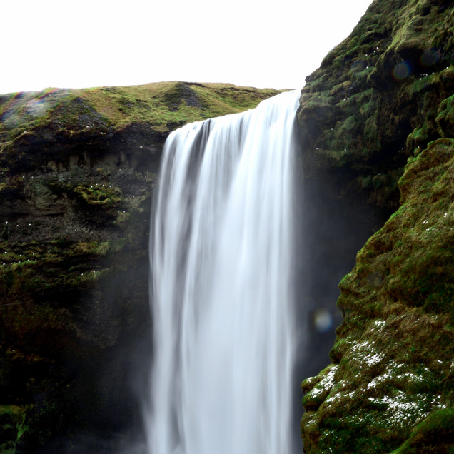 Skogafoss from up the stairs