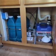 Water storage under the sink