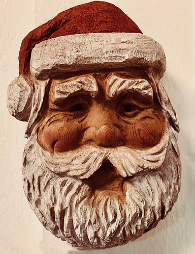 Hand-carved Saint Nick