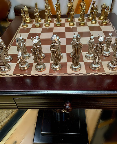 Vintage chess set front