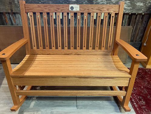 Double-Seat Oak Rocker