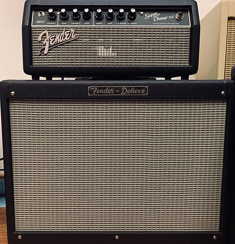 Fender head and amp