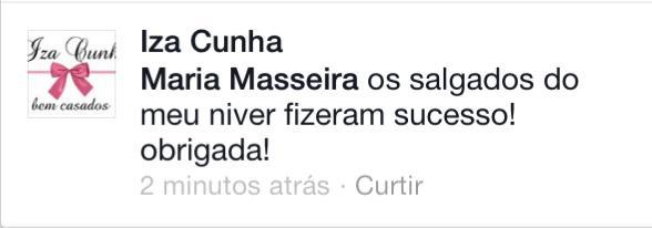 Obrigada Iza Cunha!