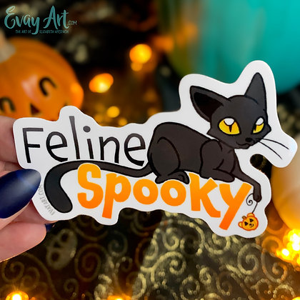 Feline Spooky Sticker