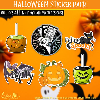 Halloween Sticker Pack (12 Stickers!)