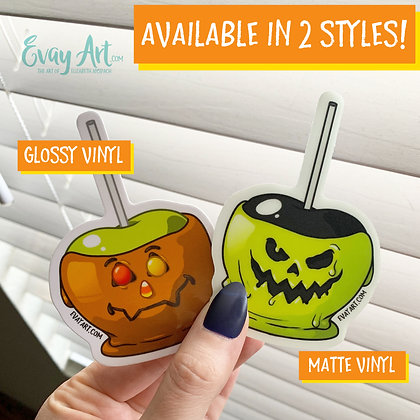 Caramel Apple (Sweet or Sour) Stickers