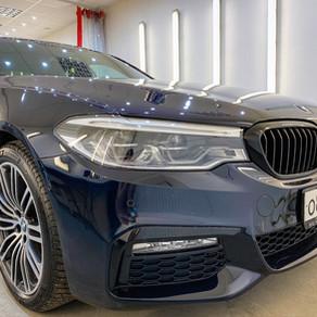 BMW 5 M Mediterreanean Blue 2 slāņos nanokeramiskā pārklājuma EVERGLASS