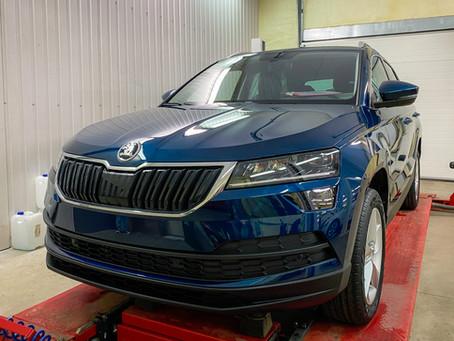 ŠKODA KAROQ – керамическое покрытие для нового автомобиля