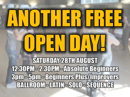 Social dancing is BACK! And we've also got another FREE open day!