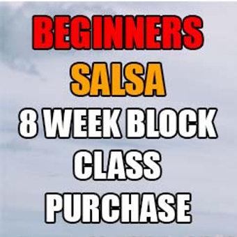 Beginners SALSA 8 week block class purchase