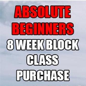 Absolute Beginners 8 week block class purchase