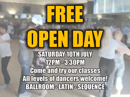 JULY OPEN DAY - SATURDAY 10TH JULY
