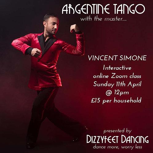 Argentine Tango Masterclass with Vincent Simone!