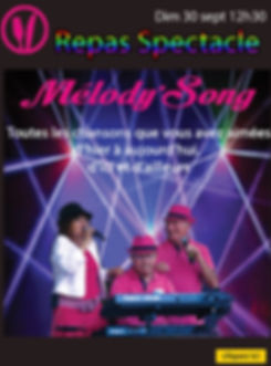 programme repas spectacle melody song si