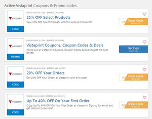 Vistaprint coupon: lower price for business and marketing