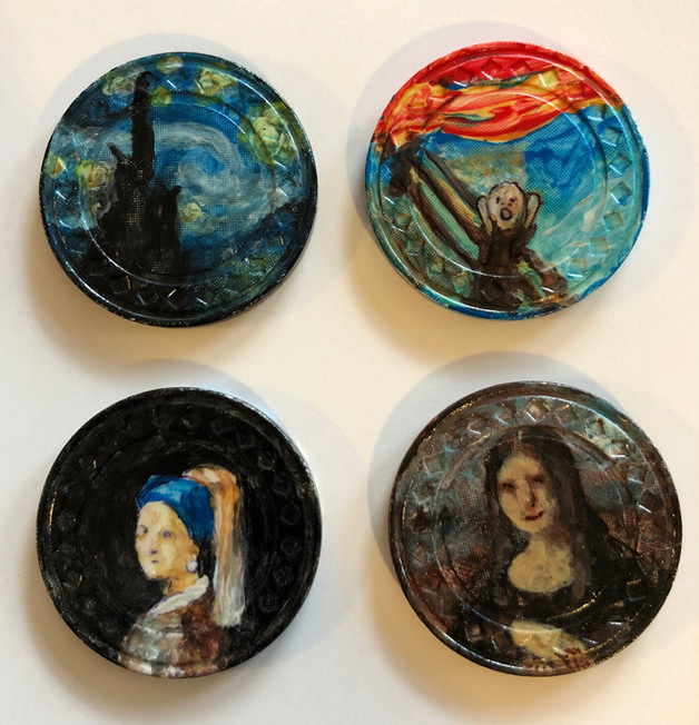 Old Masters - Starry Night, Scream, Girl with Pearl Earring, Mona Lisa