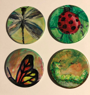 Bugs - Dragonfly, Lady Bug, Butterfly, Caterpillar