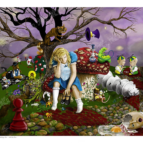 """Bad Day for Alice"" 22""x20"" Art Print. Limited Edition Numbered and Signed"