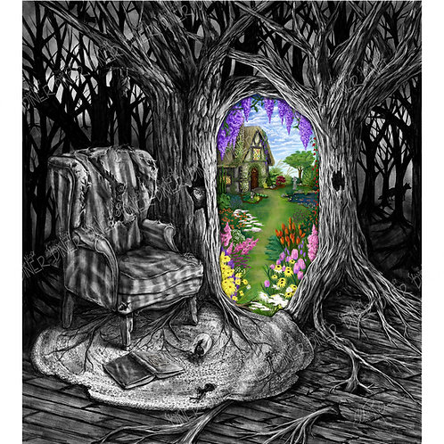 """""""Secret Garden"""" 20""""x22"""" Art Print. Limited Edition Numbered and Sign"""