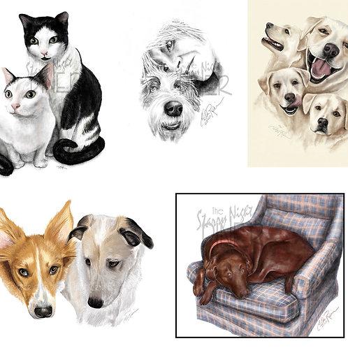 Custom Pet Portrait -  Complex