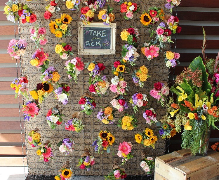 Box Spring Flower Give-Away Wall  (2).JP