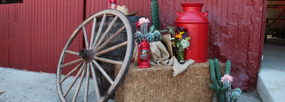 Big Red Barn Western Vignette photo op 8