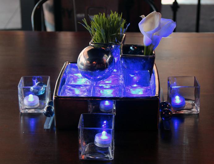 Modern Centerpiece with Blue Lights 3.jp
