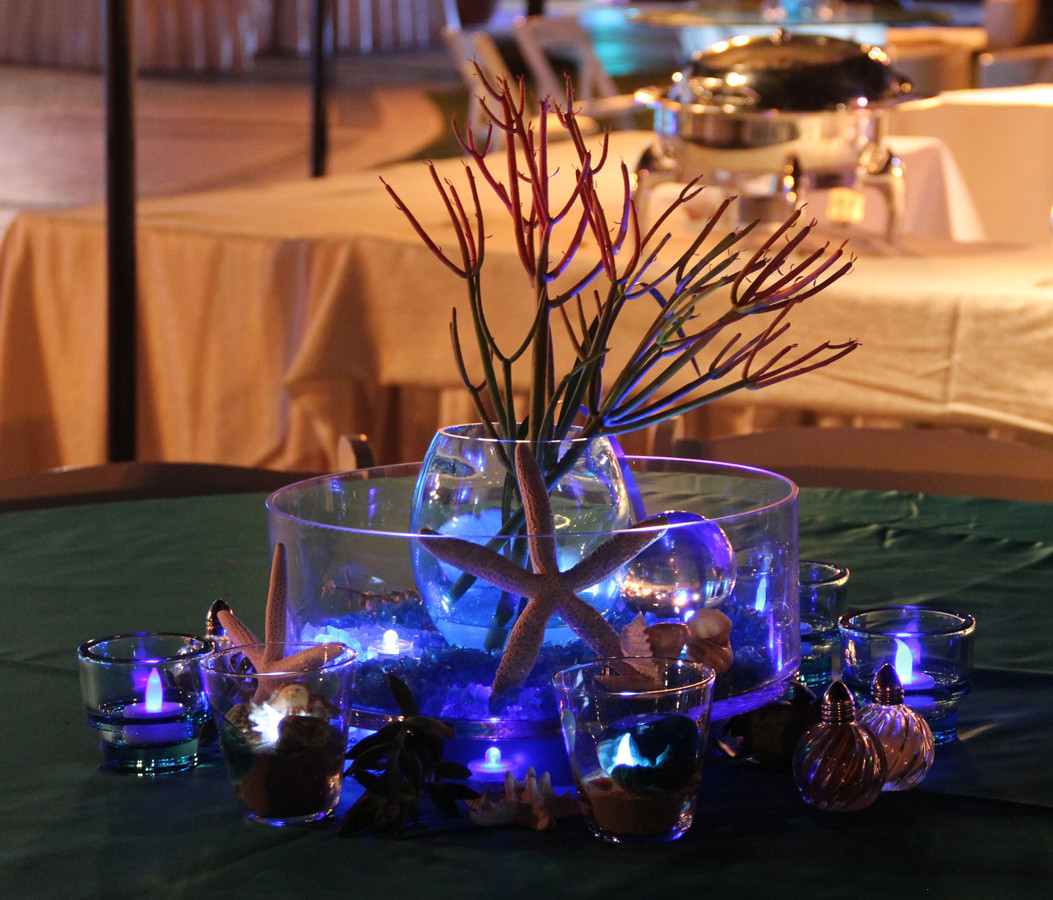 Ocean Inspired Centerpiece Night Time 1.