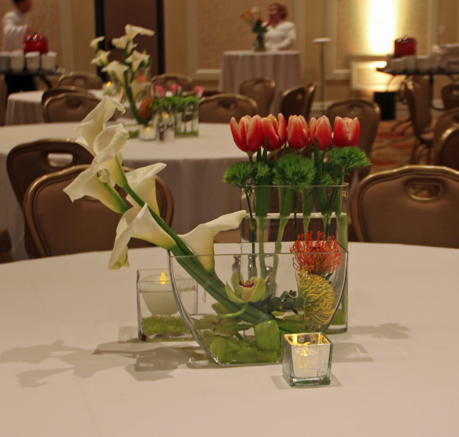 Modern Grouping Tulips and Calla Lillies