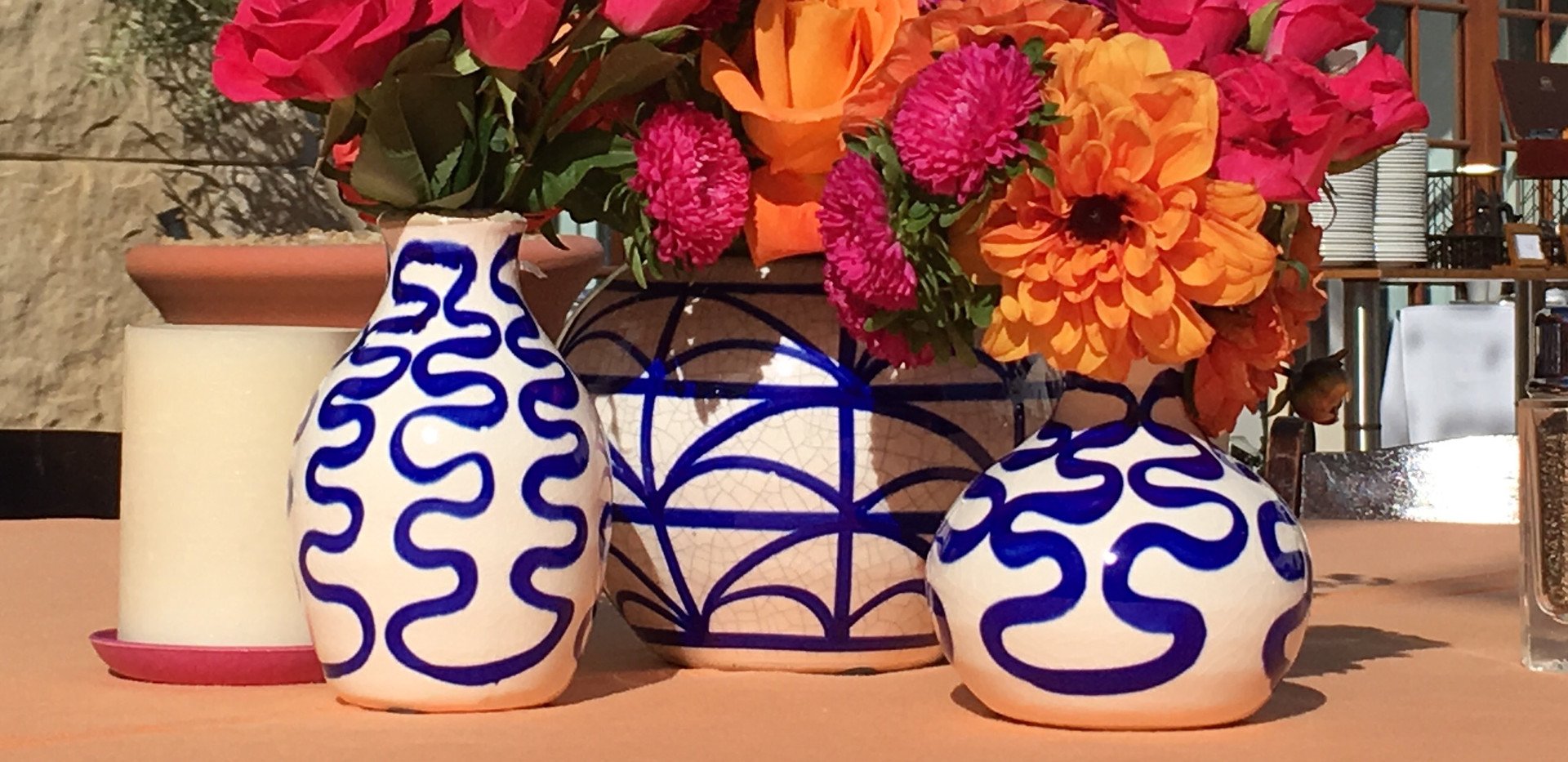 Painted Vases and Bright colors Spanish