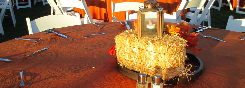 Small Hay bale Centerpiece