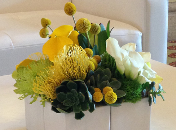 Yellow Coffee table Centerpiece 3 - Copy