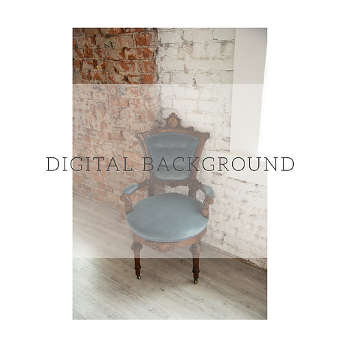 Digital Background | Blue vintage chair