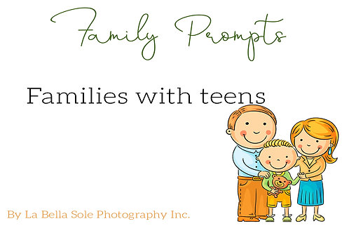 Family with Teens Prompt Cards