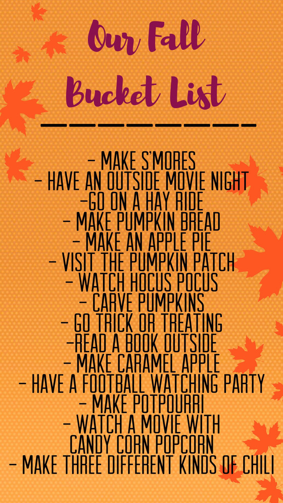 My Fall Bucketlist