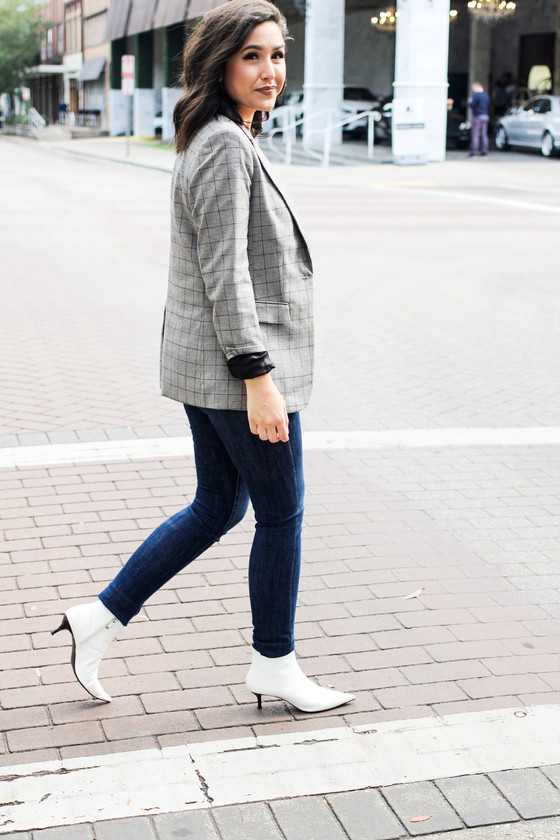 How I Style A Plaid Blazer