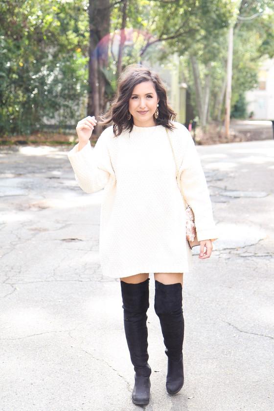 A Knit Sweater Dress Worn Two Ways