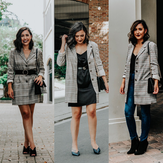 A Plaid Blazer Three Ways