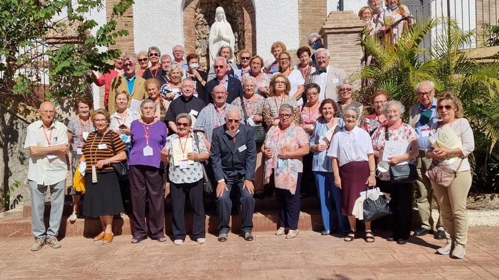 Personas mayores de toda Andalucía se reúnen en la Casa Diocesana Málaga