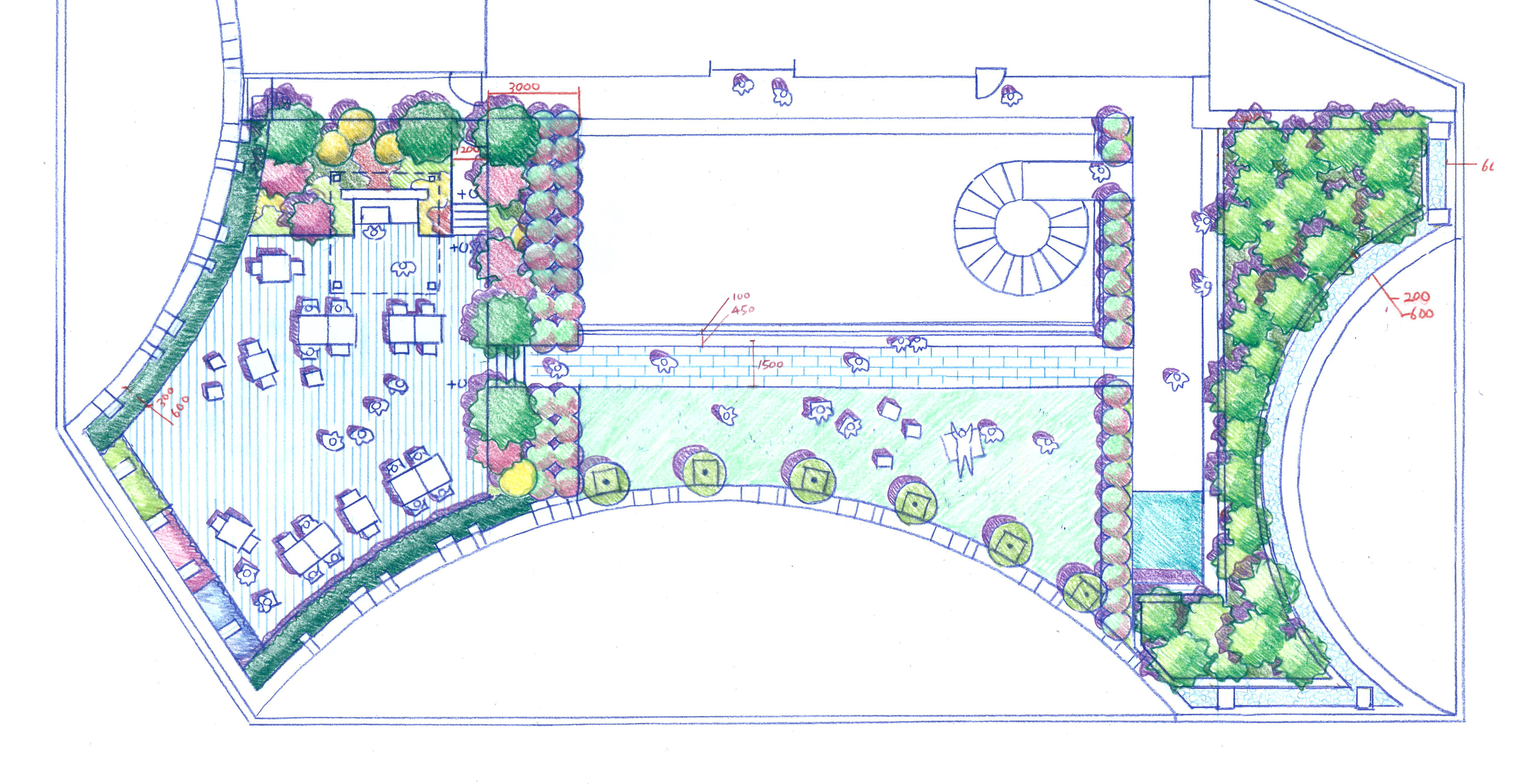 Roof garden design, Yeonyi Bld.